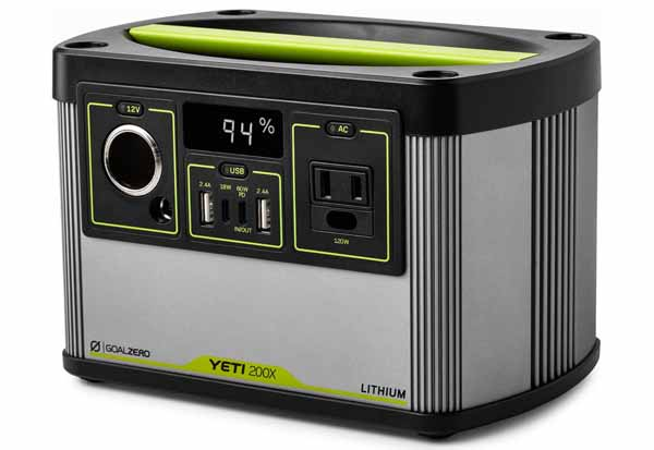 Goal Zero YETI 200X 120V power station 大容量187Whリチウムイオン電池ポータブル電源|22070