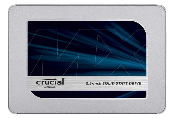 "Crucial MX500 500GB SATA 2.5"" 7mm (with 9.5mm adapter) Micron 3D TLC NANDフラッシュを採用 2.5インチSSD