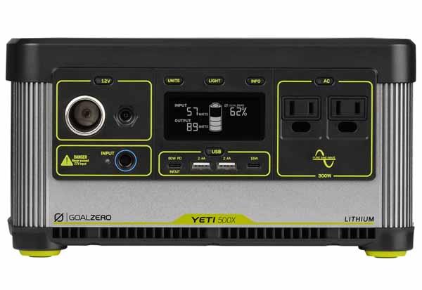 Goal Zero YETI 500X 120V power station 大容量505Whリチウムイオン電池ポータブル電源|36100