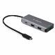 StarTech 4ポートUSB Type-Cハブ USB PD対応ポート 10Gbps 3x USB-A/1x USB-C 25cmホストケーブル|HB31C3A1CPD3