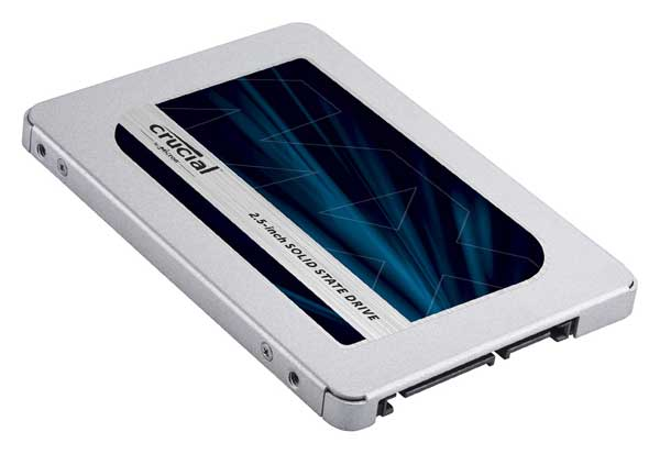 """Crucial MX500 1000GB SATA 2.5"""" 7mm (with 9.5mm adapter) Micron 3D TLC NANDフラッシュを採用 2.5インチSSD