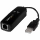 StarTech 外付ケUSB接続アナログモデム USB対応FAXモデム アナログ回線でインターネット接続 56kbpsでデータ通信/14.4kbpsでFAX通信 USB56KEMH2