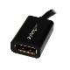 StarTech Mini DisplayPort - DisplayPort変換ケーブルアダプタ (15cm) ミニディスプレイポート/ Mini DP (オス) - ディスプレイポート/ DP (メス)  MDP2DPMF6IN