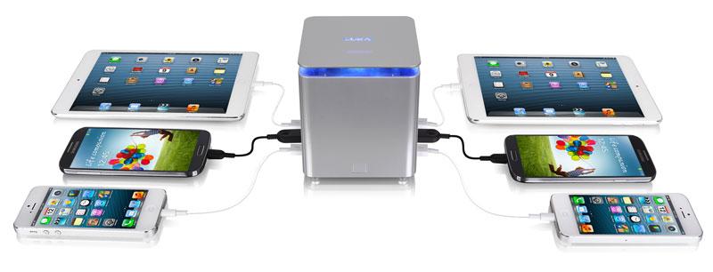 Thermaltake LUXA2 P-Mega Power Station 最大6台のデバイスまで同時充電が可能41,600mAhポータブルバッテリー (PO-UNP-PCPMSI-00)