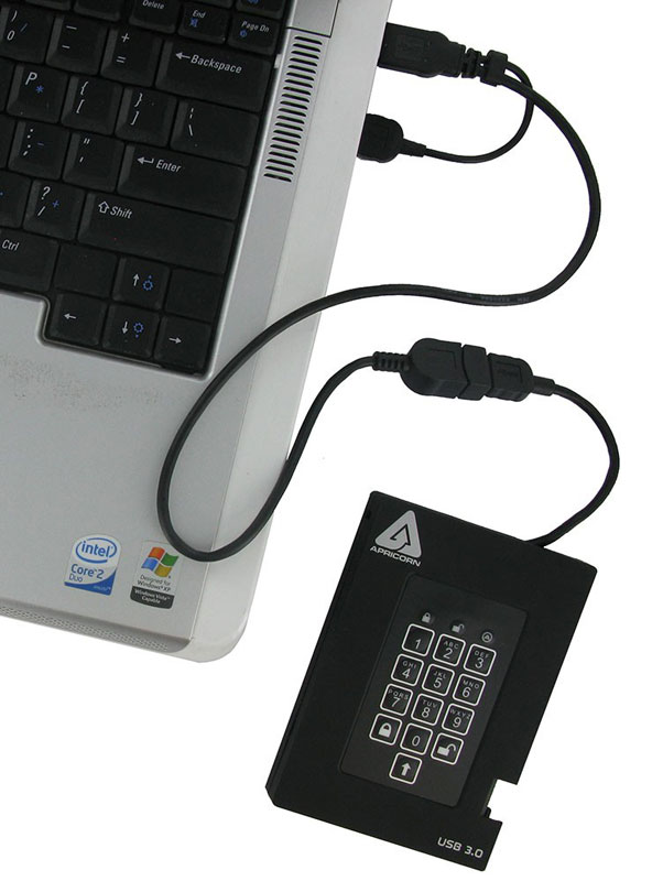 Apricorn Aegis Fortress HDD 1TB USB3.0データセキュリティ FIPS 140-2 Level2認定取得 (A25-3PL256-1000F)