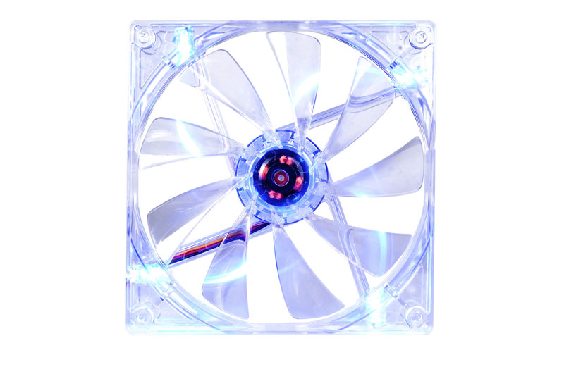 Thermaltake 低ノイズ、長寿命設計の冷却ファン 14cm Pure 14 LED Blue (CL-F014-PL14BU-A)