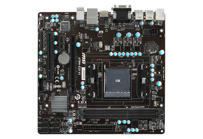 MSI A78M-E35 V2 AMD A78チップセット搭載microATXマザーボード (A78M-E35 V2)