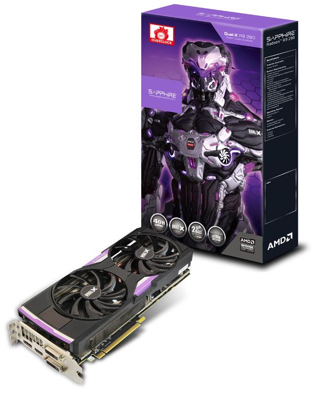 Sapphire R9 290 4G GDDR5 PCI-E DUAL DVI-D / HDMI / DP DUAL-X OC VERSION (UEFI) (SA-R9290-4GD5R07/11227-12-20G)