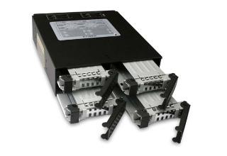 Cremax ICYDOCK 4 x 2.5インチSATA&SAS HDD/SSD搭載用モジュールケース 5インチベイサイズ対応 (MB994SP-4S)