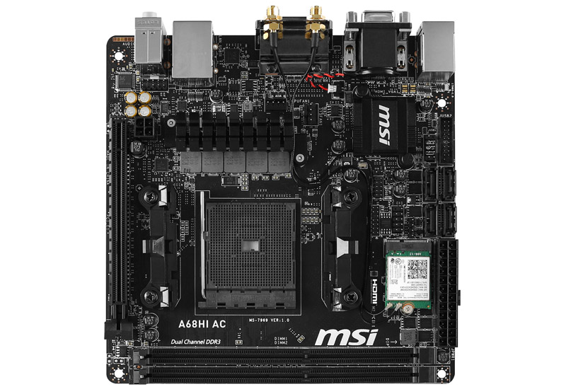 MSI A68HI AC Mini-ITXマザーボード (A68HI AC)