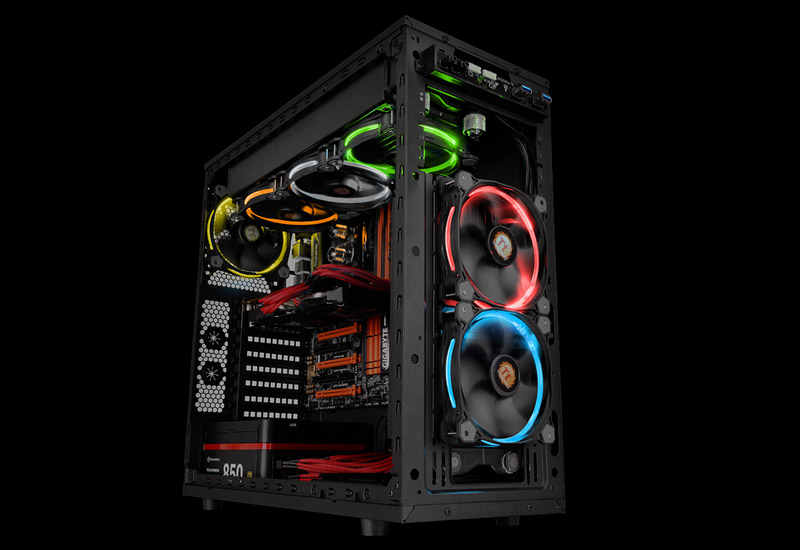 Thermaltake Riing 256Color LED 120mm 256カラー7段階LEDモード切替対応 (CL-F042-PL12SW-A)