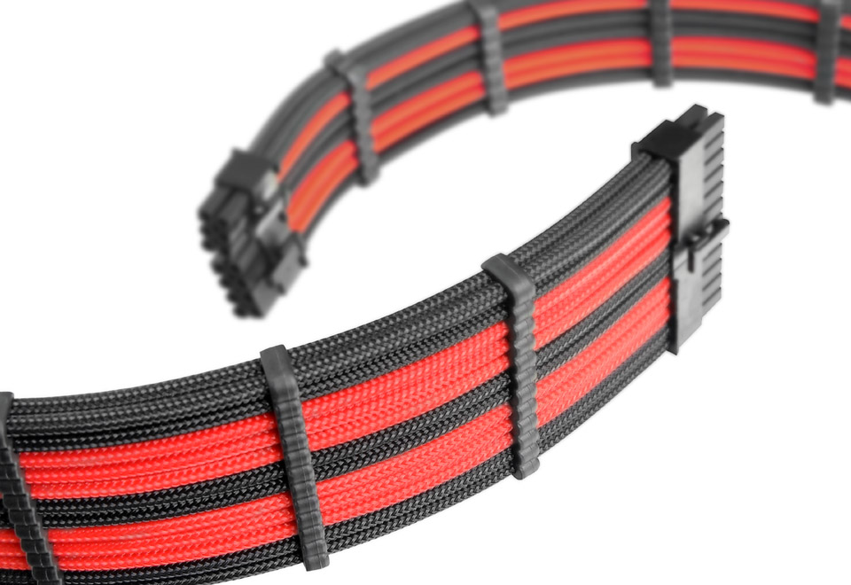 Thermaltake TtMod Extend Sleeve Cable Combo Pack レッド 延長スリーブケーブルセット|AC-033-CN1NAN-A1