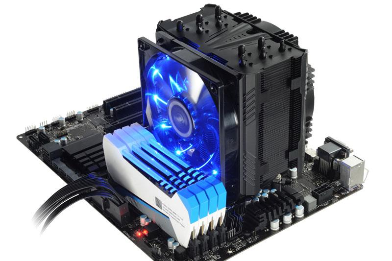 Enermax ETS-T50AXE ファンにホコリを溜まりにくくするDFRテクノロジー搭載サイドフロー型CPUクーラー|ETS-T50A-BVT