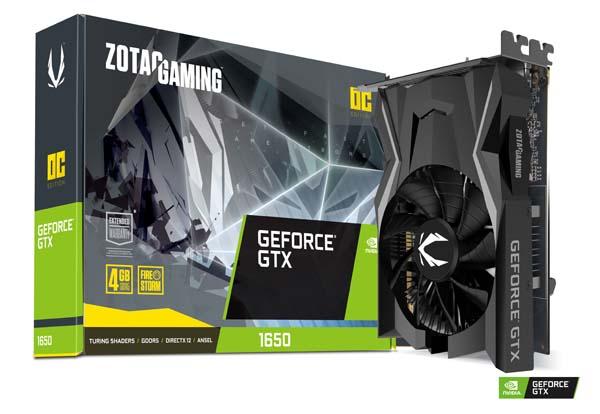 ZOTAC GAMING GeForce GTX 1650 OC|ZTGTX1650-4GBOC/ZT-T16500F-10L
