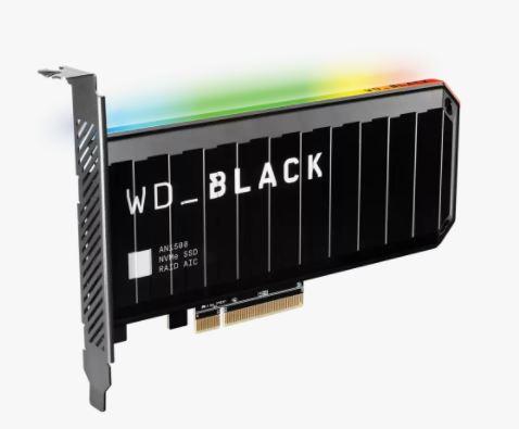WesternDigital WD Black AN1500 NVMe SSD Add-in-Card 容量4TB  アドインカード 13mm WDS400T1X0L
