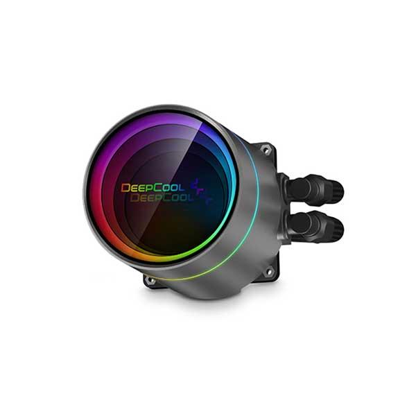 Deepcool CASTLE 240EX A-RGB AIO液体式CPUクーラー CF120A-RGB PWMファンx2 ブラック DP-GS-H12W-CSL240EX-AR