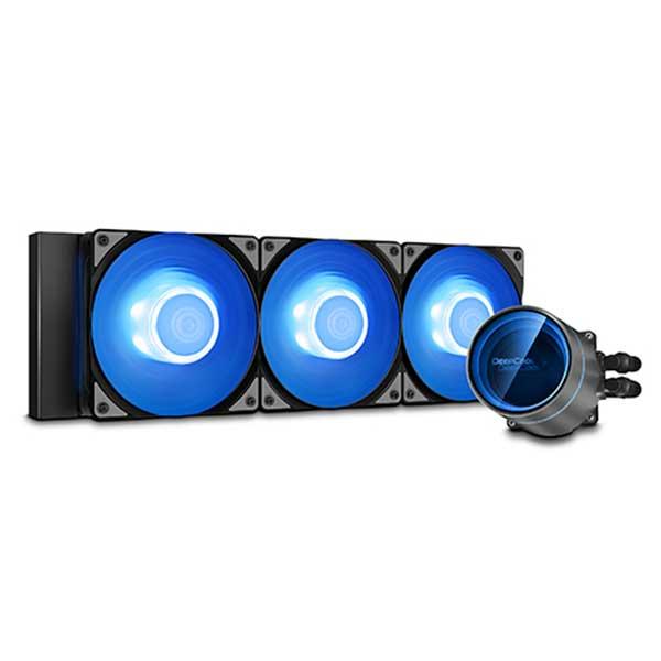 Deepcool CASTLE 360EX A-RGB AIO液体式CPUクーラー CF120A-RGB PWMファンx3 ブラック|DP-GS-H12W-CSL360EX-AR