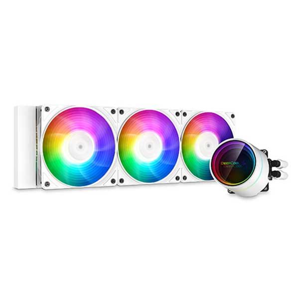 Deepcool CASTLE 360EX A-RGB WH  AIO液体式CPUクーラー CF120A-RGB PWMファンx3 ホワイト|DP-GS-H12W-CSL360EX-AR-WH