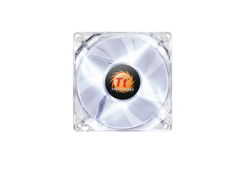 Thermaltake 低ノイズ、長寿命設計の冷却ファン 8cm Pure 8 LED White (CL-F031-PL08WT-A)