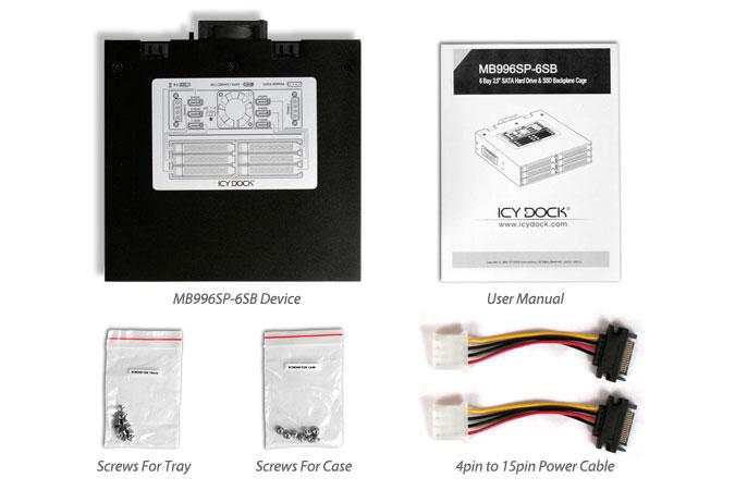 Cremax 6 x 2.5インチSATA 3 HDD/SSD搭載用モジュールケース 5インチベイサイズ対応 (MB996SP-6SB)