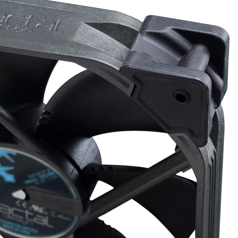 Fractal Design Venturi HP-12 PWM 長寿命の流体軸受け120mm径ファン (FD-FAN-VENT-HP12-PWM-BK)
