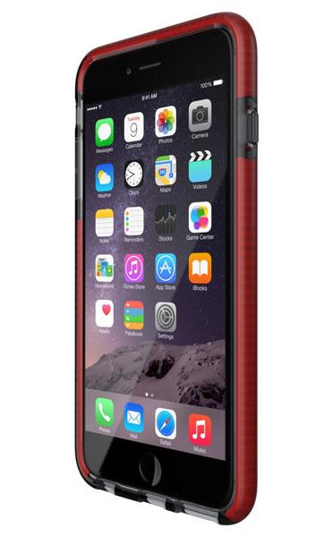 Tech21 Evo Mesh for iPhone 6 Plus/6s Plus スモーク/レッド 耐衝撃ケース (T21-5019)