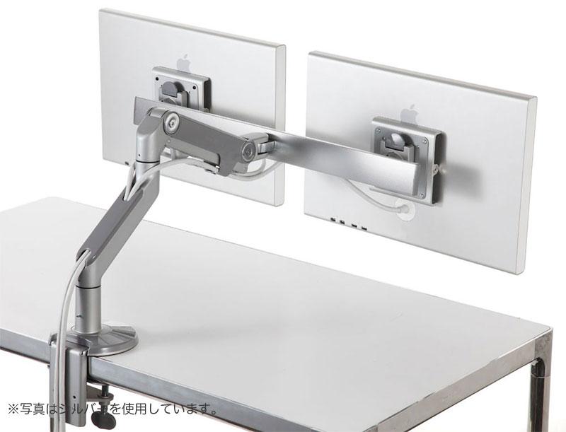 Humanscale M8 モニター2台取り付け可能水平垂直可動式のVESA規格モニターアーム (M8-C-BK)