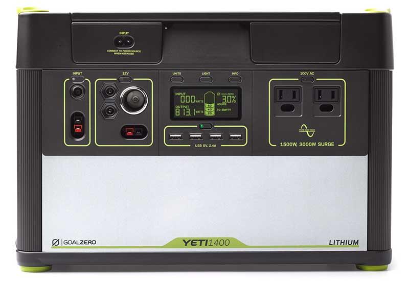 Goal Zero Yeti Lithium 1400 (100V) Portable Power Station 1425Whリチウムイオン電源バッテリー 38009