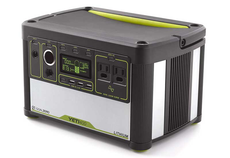 Goal Zero Yeti Lithium 400 (100V) Portable Power Station 428Whリチウムイオン電源バッテリー|38008