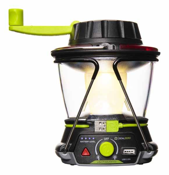 Goal Zero LIGHTHOUSE 600 モバイルバッテリー機能とダイナモ手回し充電に対応 LEDランタン 32010