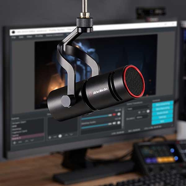 AVerMedia TECHNOLOGIES LIVE STREAMER MIC 330 クリエイター向けダイナミックマイク|AM330