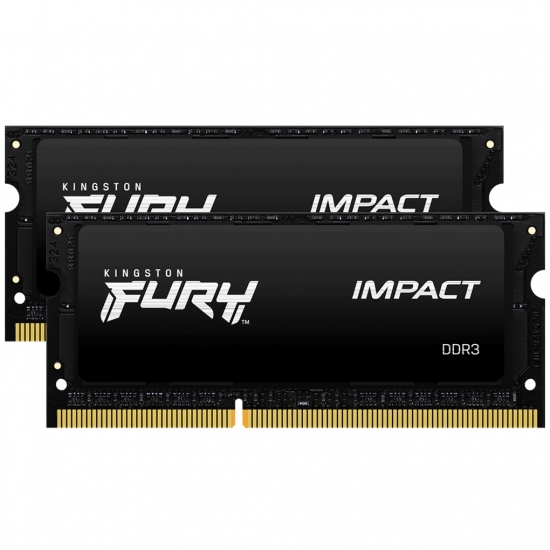 Kingston 16GB(8GBx2) DDR3L 1866MHz (PC3-14900) CL11 SODIMM 1.35V FURY Impact|KF318LS11IBK2/16