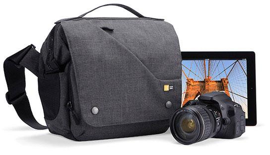 【アウトレット特価品】Case Logic デジタル一眼レフ・カメラ+iPad収納ポケットANTH REFLEX SLR SHLDR2|FLXM-101ANT2