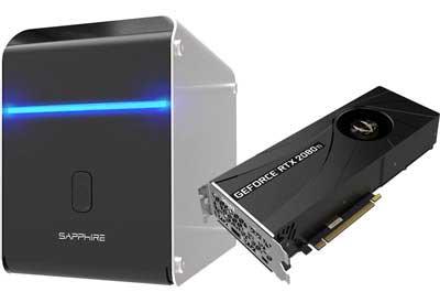 Sapphire GearBox RTX2080TI Blower搭載 Thunderbolt3 500W 外付けグラフィックスBOX Mac対応|AS-GEARBOX-RTX2080TIB