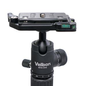 Velbon 中型 アルミ製三脚 ウルトラロック式 6段 クイックシュー機能付き 自由雲台セット|UT-63