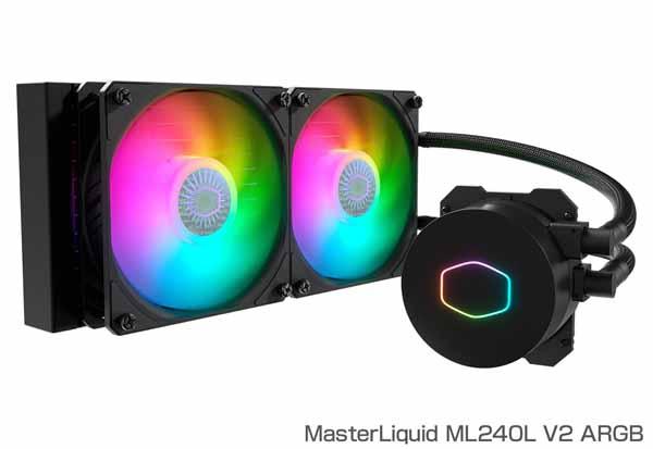 Cooler Master MasterLiquid ML240L V2 ARGB 水冷一体型CPUクーラー|MLW-D24M-A18PA-R2