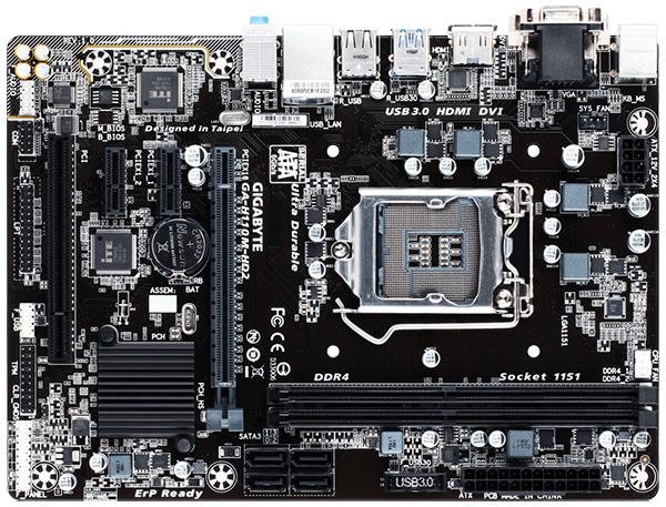 GIGABYTE H110M-HD2 MicroATXマザーボード