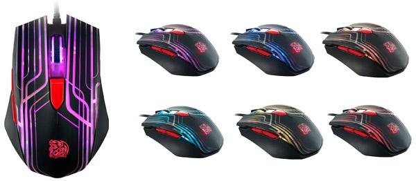 Thermaltake TT eSPORTS TALON Mouse 6色に光るLEDマウス (MO-TLN-WDOOBK-01)