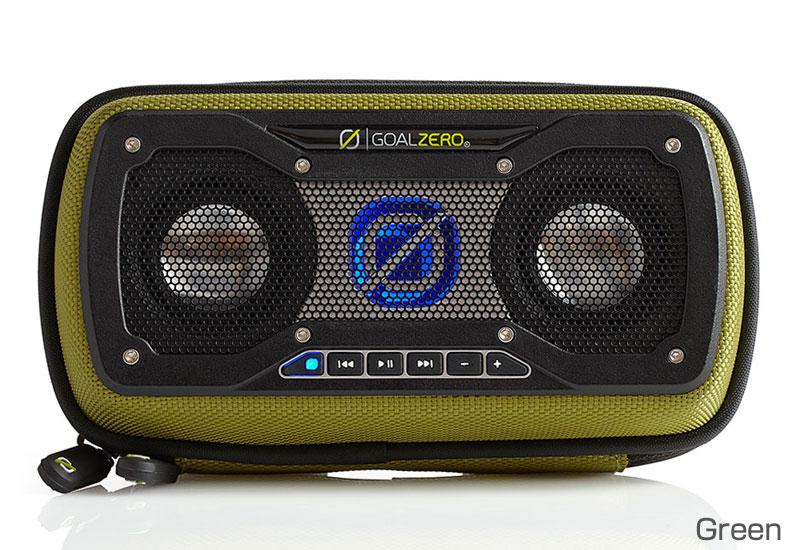 Goal Zero ソーラーパネル搭載 Bluetoothスピーカー Rock Out 2 Solar Speaker - Green (94014)