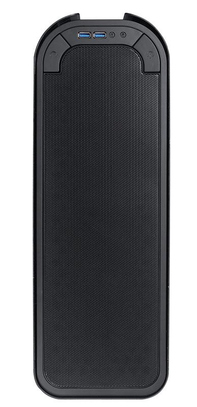 BitFenix Pandora Window Black フロントロゴが変更できるTFT液晶搭載microATX対応のスリム型PCケース (BFC-PAN-300-KKWL1-RP)