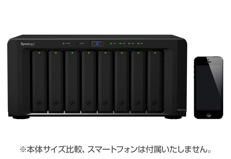 Synology DiskStation DS2015xs クアッドコアCPU/10GbEポート搭載8ベイNAS (DS2015xs)