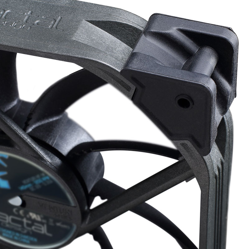 Fractal Design Venturi HF-12 ブラック 長寿命の流体軸受け120mm径ファン (FD-FAN-VENT-HF12-BK)