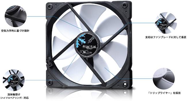 Fractal Design Dynamic GP-12 ブラック 低騒音で大風量を実現 120mm径ファン (FD-FAN-DYN-GP12-BK)