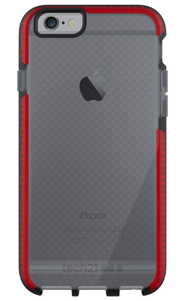Tech21 Evo Mesh for iPhone 6/6s スモーク/レッド (T21-5009)