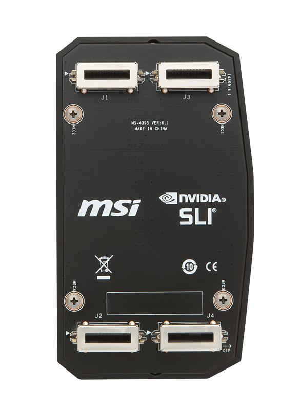 MSI 2WAY SLI HB BRIDGE L 80mm ドラゴンエンブレム搭載2-Way SLI HBブリッジ