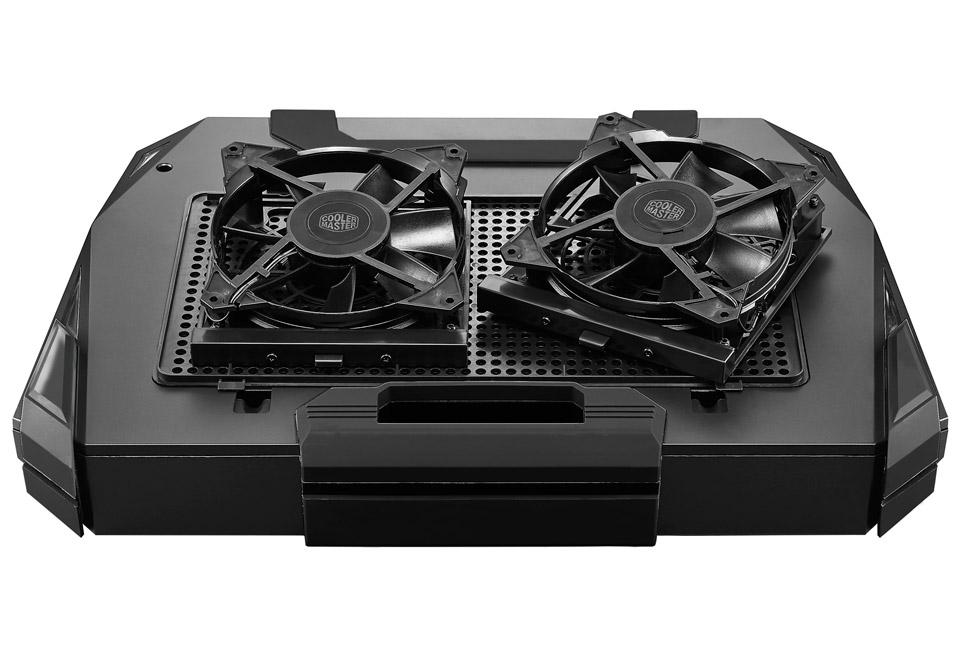 Cooler Master SF-19 V2 USB3.0 19インチ対応7色に光るノートブッククーラー|R9-NBC-SF93K-GP