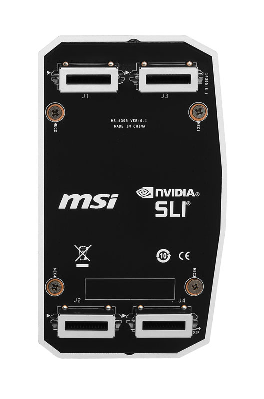 MSI 2WAY SLI HBブリッジ Lサイズ GeForce GTX 1080/1070/900シリーズ(MSI )対応 LED内蔵のドラゴンエンブレム搭載