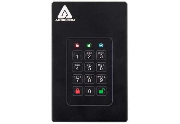 Apricorn Aegis Fortress L3 - USB 3.0 暗号化ストレージ HDD 5TB|AFL3-5TB