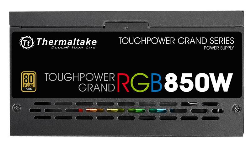 Thermaltake TOUGHPOWER GRAND RGB 850W 256色発光ファン 80PLUS GOLD認定取得電源ユニット|PS-TPG-0850FPCGJP-R