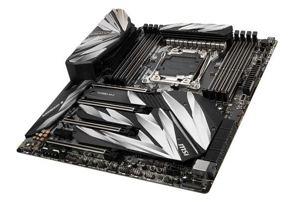 MSI MEG X299 CREATION クリエイター向けExtended ATXマザーボード